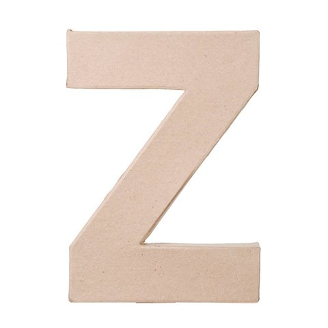 "Ready To Decorate Paper Mache Capital Letter ""Z"" For Crafting, Creating And Projects"
