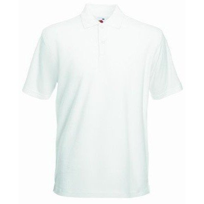 Fruit Of The Loom Mens 65/35 Heavyweight Pique Short Sleeve Polo Shirt (M) (White)