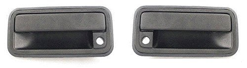 Front Outside Door Handle Black Pair Set Both Fits 95 - 98 Chevrolet GMC Silverado Sierra Truck 95-99 Suburban Tahoe Yukon Escalade Driver and Passenger (Door Handle 1997 Chevy Suburban compare prices)