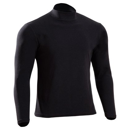 ボディメーカー(BODY MAKER) マイクロフリースハイネックシャツ3 ME008 ブラック M
