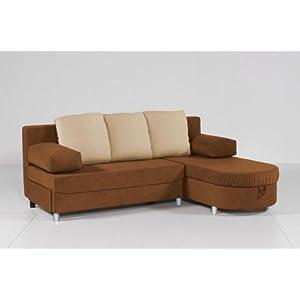 billig kaufen ecksofa funktionssofa pia mokka beige mit bettfunktion bettkasten und ottomane. Black Bedroom Furniture Sets. Home Design Ideas
