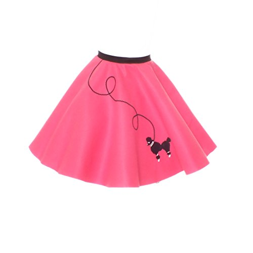 Hip Hop 50S Shop Small Child Poodle Skirt - Size 4,5,6 - Hot Pink