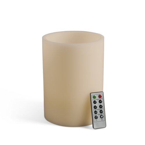 Gerson Universal Remote Wax Led Candle, 6 By 8-Inch