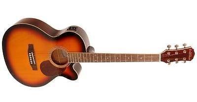 Freshman Renocsb Folk Electro Acoustic Guitar, Sunburst + Tom And Will Gig Bag
