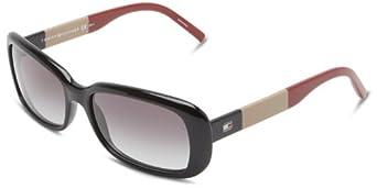 Tommy Hilfiger TH1158S Rectangular Sunglasses,Black,56 mm