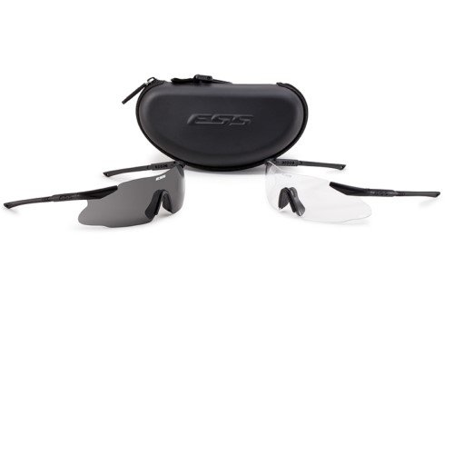 ESS Eyewear Ice 2X Eyeshield Kit, Black