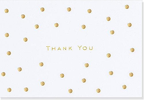 Gold Dots Thank You Notes (Stationery, Note Cards, Boxed Cards)