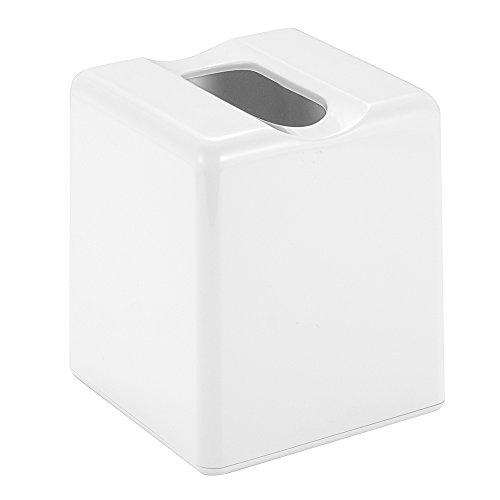 Interdesign Facial Tissue Box Cover Holder For Bathroom Vanity Countertops White Hardware