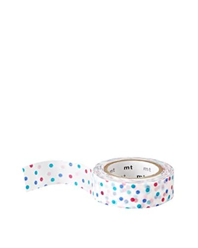 mt Masking Tape Small Polka Dot Decorative Tape, Blue/Red, 32.8 ft.