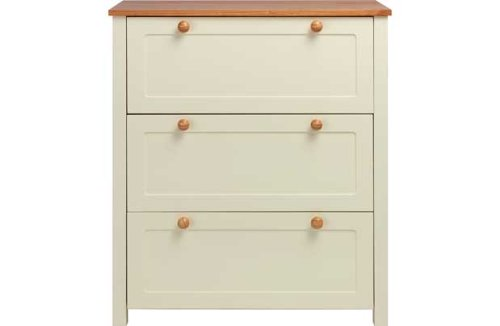 [HSB] Classic Two-Tone Chest of Drawers - Pine with Pack of 10 Safety Door Stoppers