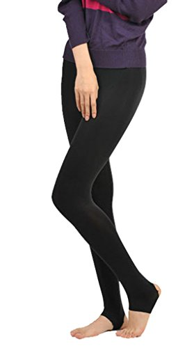 Am Clothes Compression Support Pantyhose Medical Stockings (Small, A-Black)