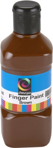 Omega Finger Paint, 250ml, Brown