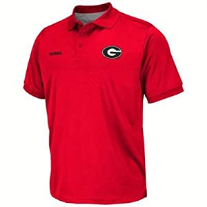 Georgia Bulldogs Top Water Red Fishing Polo by Chiliwear by Chiliwear LLC