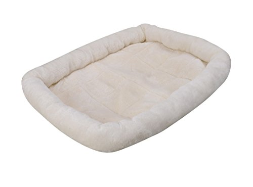 Pet Bed by Sans Pareil, 24″ x 18″, Plush Cover, Bolsters, Machine Washable Pet Bed, Can Use Pet Bed for Crate or Carrier, Quality Warm Soft Cozy Pet Beds, Use for Dog Bed, Cat Bed, Rabbit Bed