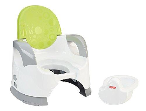 Mattel Fisher-Price, Vasino per bambini, con schienale rialzato e braccioli, Verde (grün, weiß, grau)