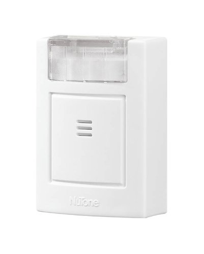 NuTone LA204RWH Wireless Plug-In Door Chime with Built-In Strobe Light, Receiver Only, White Finish
