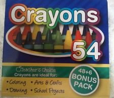 Teacher's Choice 48+6 Bonus Pack 54 Crayons with Built-in Sharpener - 1