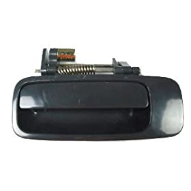 Motorking 69240-AA010-C0 Toyota Camry Black Non- Painted Replacement Rear Driver Side Outside Door Handle