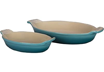 Le Creuset Stoneware Heritage Oval Au Gratin Dishes, Caribbean