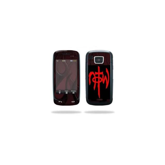 Cell Phone N.O.T.W. NOT OF THIS WORLD  RED Vinyl Sticker/Decal (1.25 X 2.5 Graphic fits most cell phones)