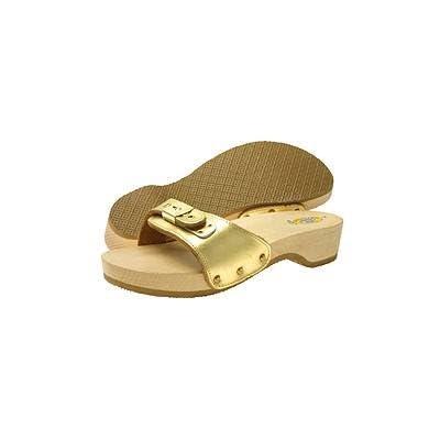 Original Dr. Scholl's Women's Original Exercise Sandal, Gold Metallic
