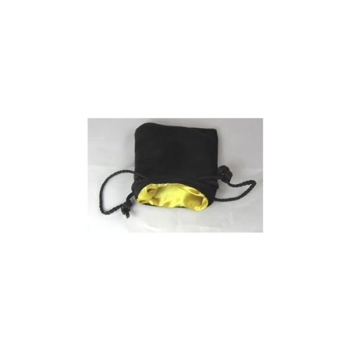 Gold Black Velvet Small Dice Bag by Koplow Games