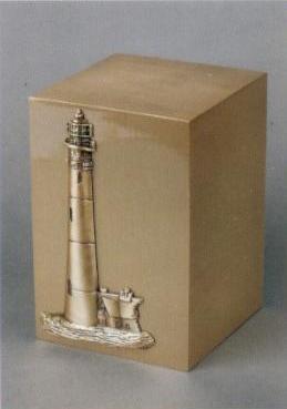 Coastal Lighthouse Cast Bronze Cremation Urn