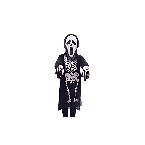 子供用 スクリーム  衣装 仮面 手袋 3点セット コスチューム  キッズ  ハロウィン ゴースト コスプレ 仮装