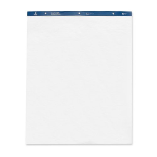 Business Source 38205 Standard Easel Pads, Plain, 27 in.x34 in., 50 Sheets, 4/CT, White