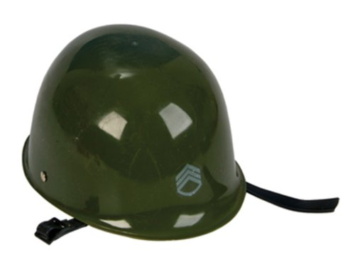 Olive Drab Green Toy ARMY Hat Helmet Kids Military Costume Pretend Head Gear - 1