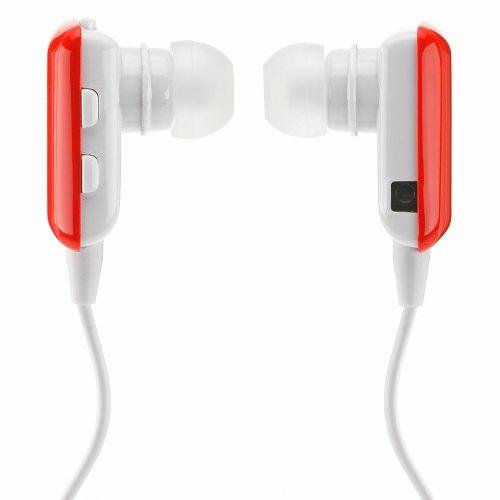 deleyCON Bluetooth In Ear Headset Kopfhörer Ohrhörer - [rot] - Stereo - für Handy, PC, Tablet, iPhone, Smartphone, Apple Mac