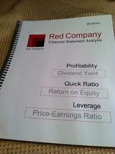 Red Company Financial Statement Analysis, 9th Edition (Red Company compare prices)