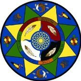 """Joy Carpets Kid Essentials Geography & Environment Round Spirit of Truth Rug, Multicolored, 13'2"""" - 1"""