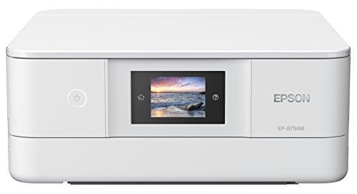 EPSON プリンター インクジェット複合機 カラリオ EP-879AW ホワイト 6色高画質