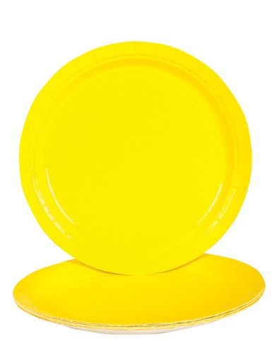 "Lot 25 9"" Yellow Lunch Dinner Party Paper Plates"