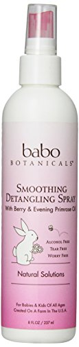Babo Botanicals Berry Primrose Instantly Smooth Detangler, 8 Ounce - Natural Conditioner, Smoothes Tangles and Adds Shine, Sulfate Free - 1