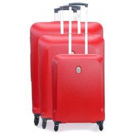 Delsey Biela Set Set di valigie rosso