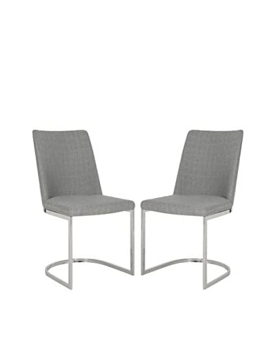 Safavieh Set of 2 Parkston Side Chairs, Linen Grey