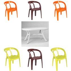 Salon La Salvetat 6 fauteuils + 1 table