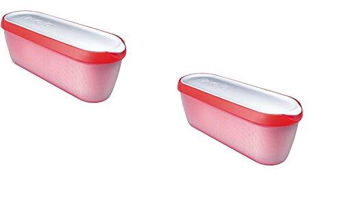 Tovolo Glide-A-Scoop Ice Cream Tub Set Of 2 (Red) (Ice Cream Scoop Tovolo compare prices)