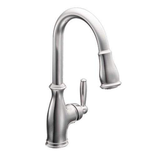 Moen 7185C Brantford One-Handle High Arc Pull-down Kitchen Faucet, Chrome