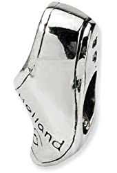 Reflections Sterling Silver Holland Shoe Bead / Charm