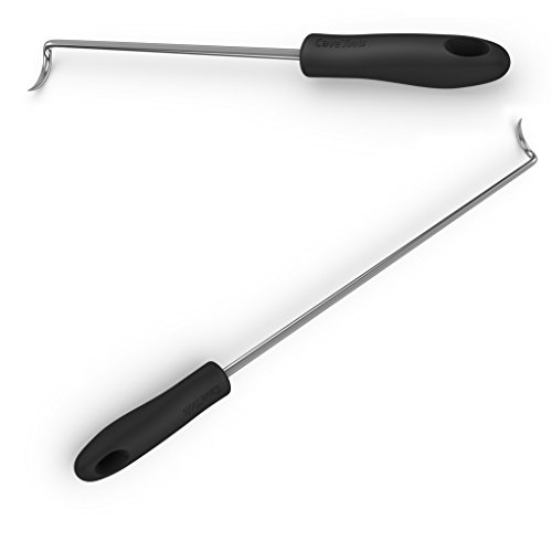 Pigtail Food Flipper Hooks - Large & Small Barbecue & Cooking Turners For Turning Bacon Steak Meat Vegetables Sausage Fish and More - Replaces Grill Spatula Tongs & BBQ Fork - Cave Tools (Meat Smoking Tools compare prices)