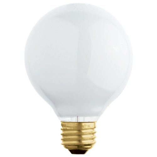 NEW 3 GE 25-Watt Frosted White //120V Double-Life G25 Vanity Globe Light Bulbs