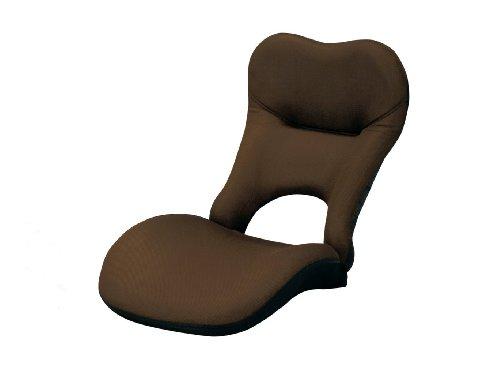 長時間座っても疲れない ボディフィット 座椅子 (YS-980) (ブラウン)