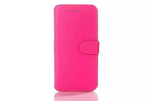 Iphone 6 Phone Case Borch Fashion Multi-Function Wallet For Iphone 6 Case Luxury Genuine Leather Carrying Case Cover With Credit Id Card Slots/ Money Pockets Flip Leather Case For Iphone 6 4.7 Inch Borch Screen Protector (Rose Red)