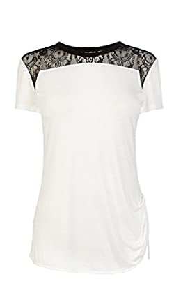 Lace shoulder tshirt