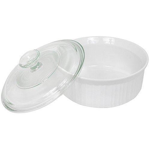 Corningware French White 1-1/2-Quart Covered Round Dish