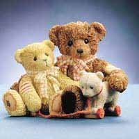 Enesco Cherished Teddies Todd & Friend Figurine - 1