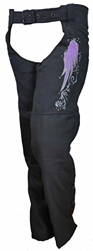 Ladies Textile Chaps With Reflective Wings & Embroidery